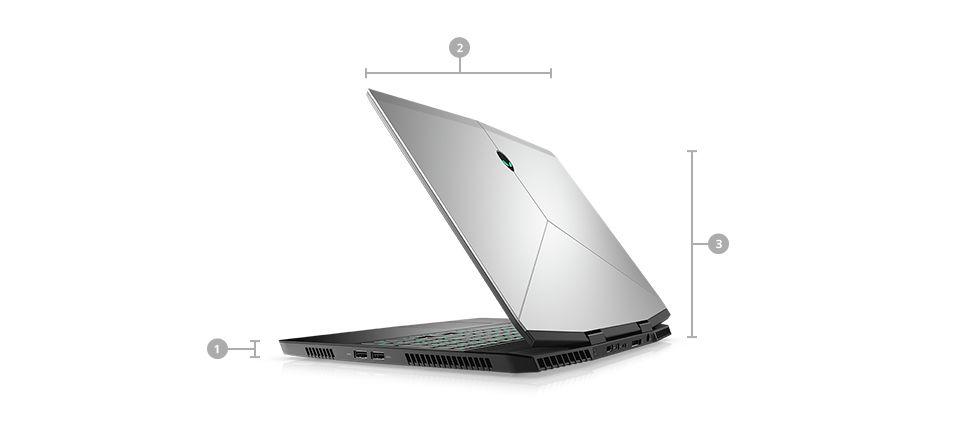 Rozmery a hmotnosť Alienware m15